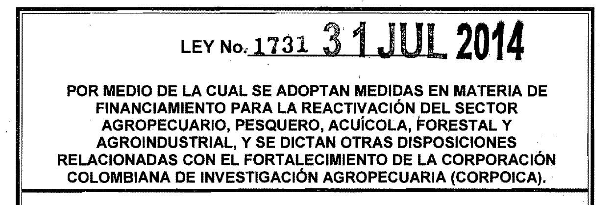 Ley 1731 de 2014; Artículo 19. Otorgamiento del CIF